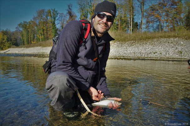 Tobi with a neat grayling