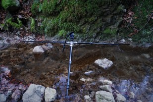 Tripod usage for a long exposure shot of a cascade of the tiny stream while exploring the headwaters