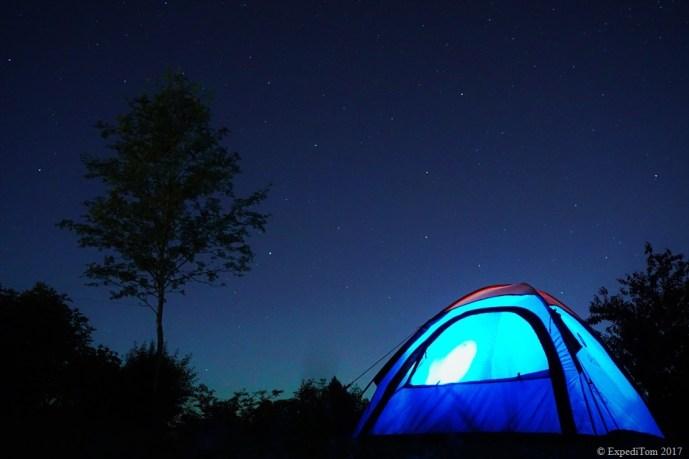 One million star hotel - ExpediTom Goals 2017: sleep more outdoors.
