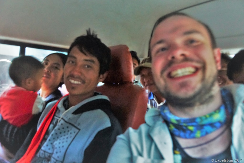 Bumby bus ride with the locals to Loikaw