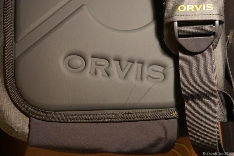 Logo of the Orvis waterproof sling pack