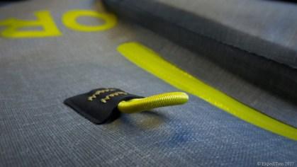 The tippet loops of the Orvis waterproof sling pack
