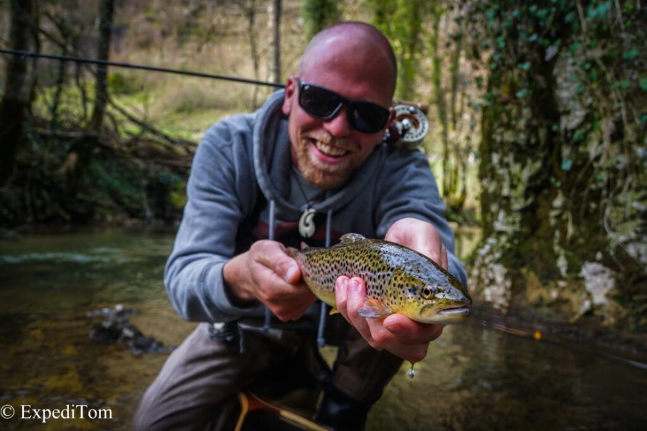 Small Stream Fly Fishing in Switzerland with Claudio and the leopard trout