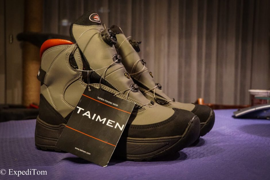 The Taimen Khatanga Wading Boots with the Atop lacing system