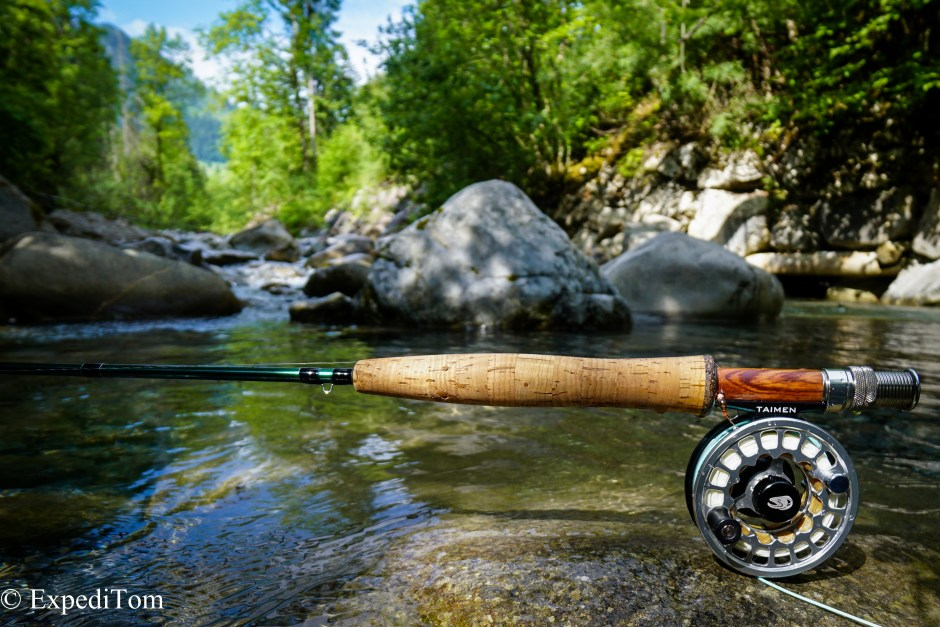 Image from last year's fishing in the Bernese mountain creeks