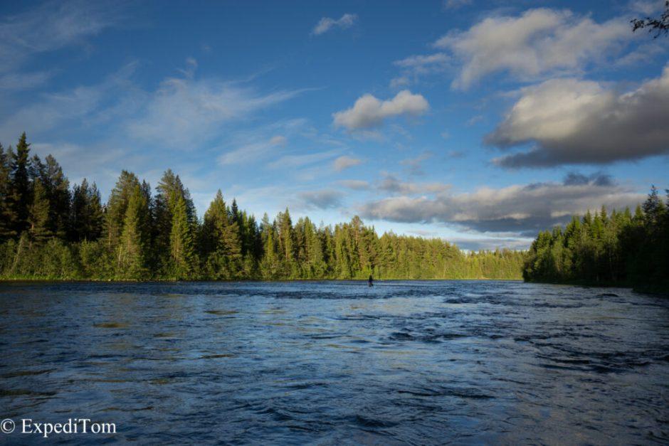Beautiful stretches at the Långan river, Jämtland Sweden