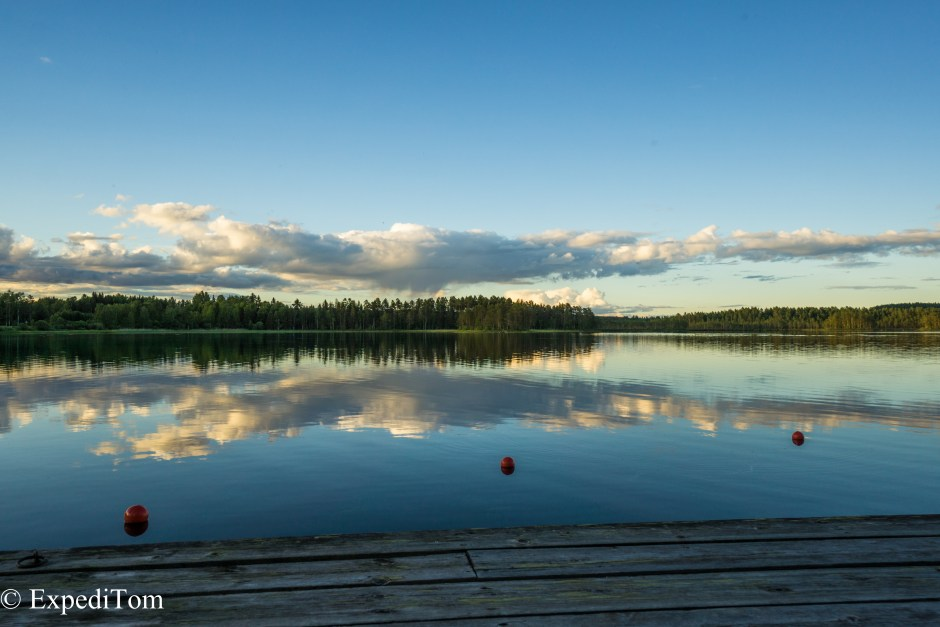 Blue Hour at the Steiner Lodge in Sweden