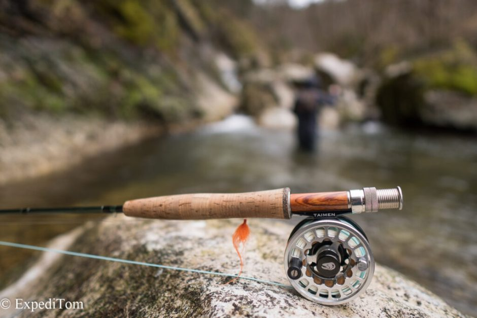 """The gear Taimen rod and reel #4 in 8'6"""""""
