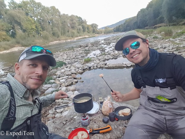 Streamside Fondue while covering more water