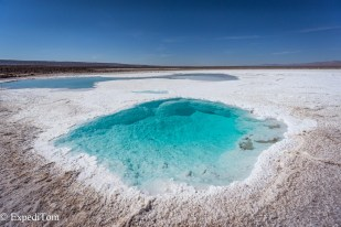 Stunning salt lagunas in the middle of the driest desert on earth