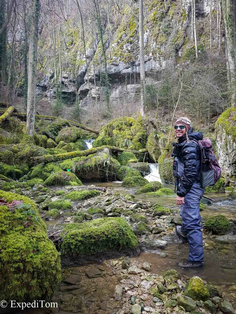 Fly fishing behind someone else: the creek