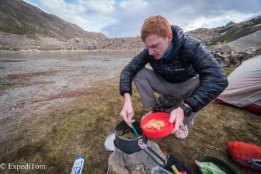 Huemul Trek 2018 Food Trekking Dinner Eating Hiking foods
