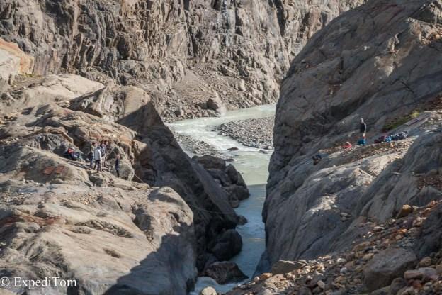 Huemul Trek 2018 zip line river crossing hiking trekking