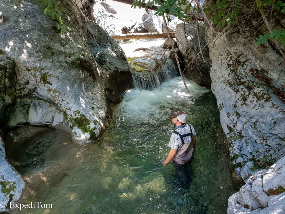 Waist-deep in Bernese mountain creeks
