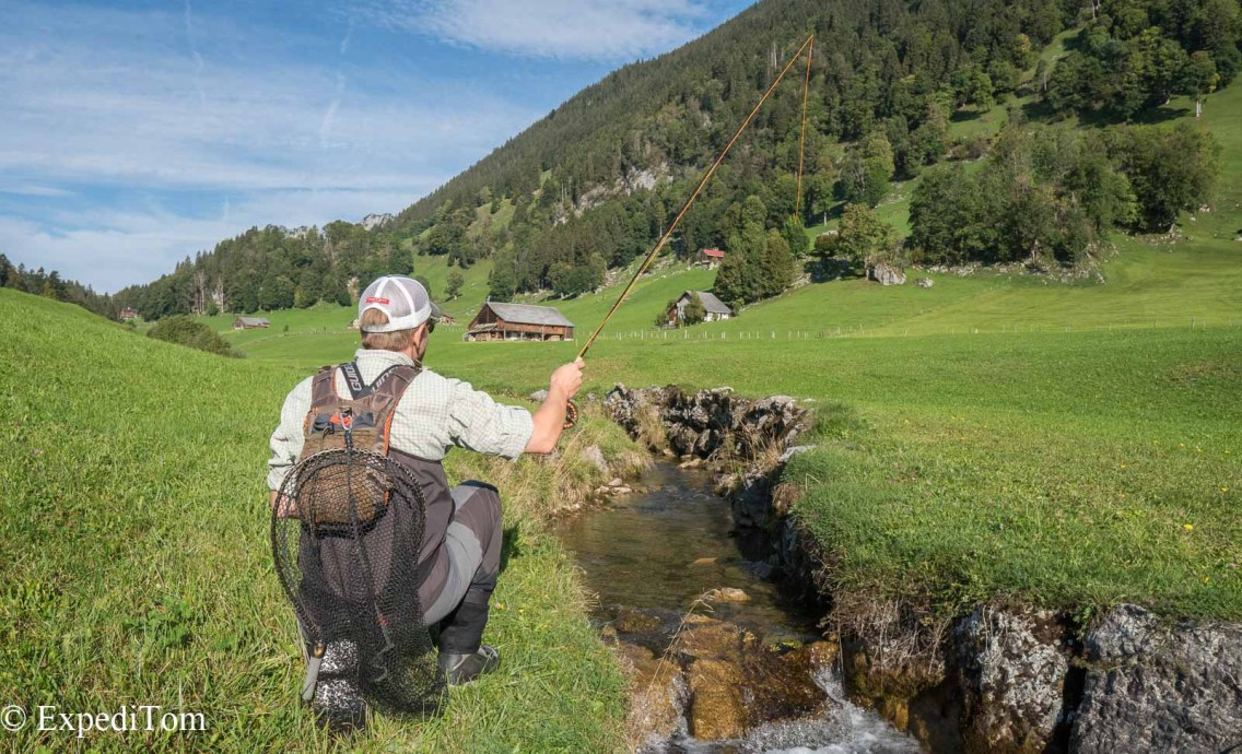 Casting precision fly fishing