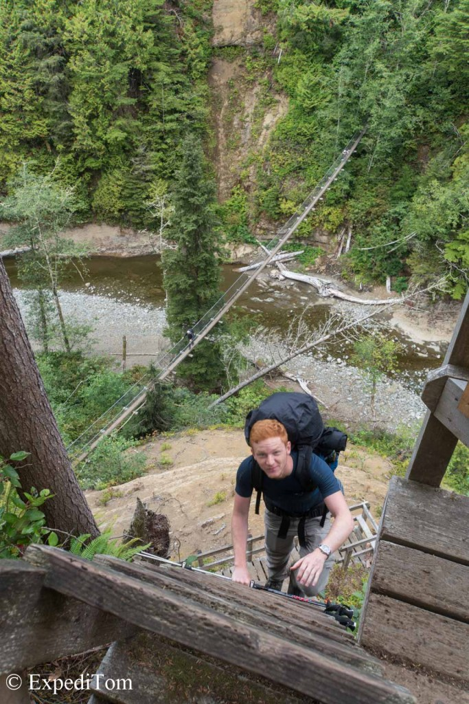 Ladders, ladders and ladders - the West Coast Trail demands trained thighs
