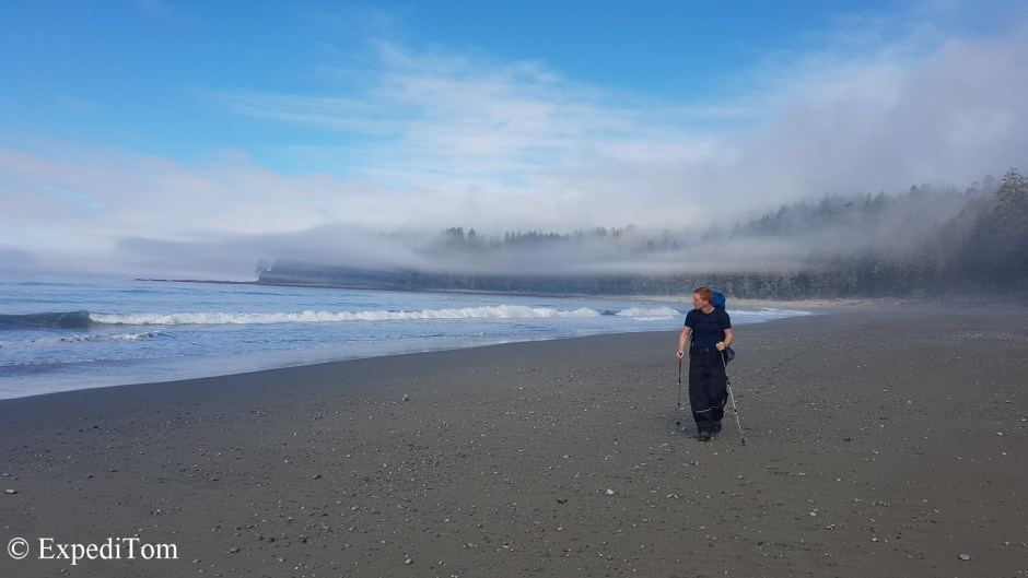 Fog waves rolling through and revealing the wonderful scenery along the WCT