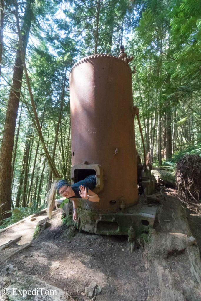 Donkey engine along the West Coast Trail