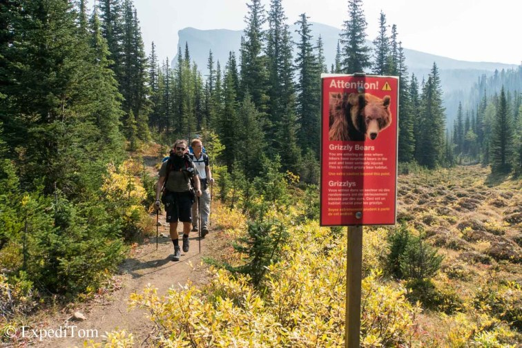 Dangerous Grizzlies and a sign about bears