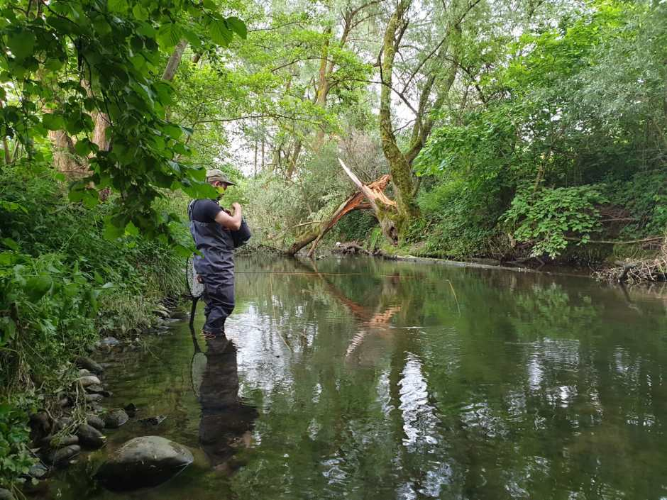 Wild scenery and rising fish, while looking for the right fly