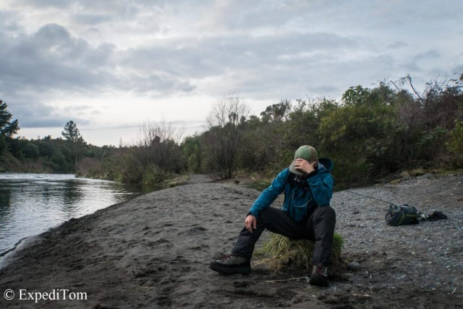 Fly fishing in the Taupo region can be tough as non-local
