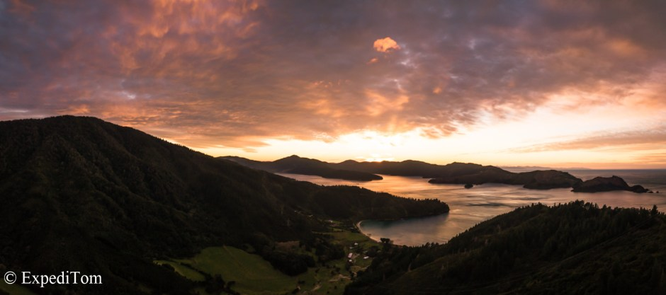 Sounds around Picton in a magnificent Sunrise display