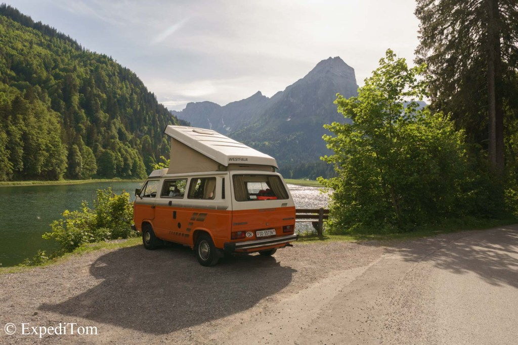 VW Bus Trip Van Life in switzerland