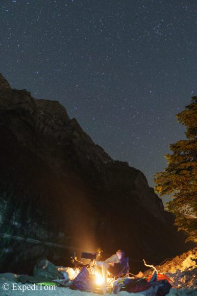 Bivouacking under the stars