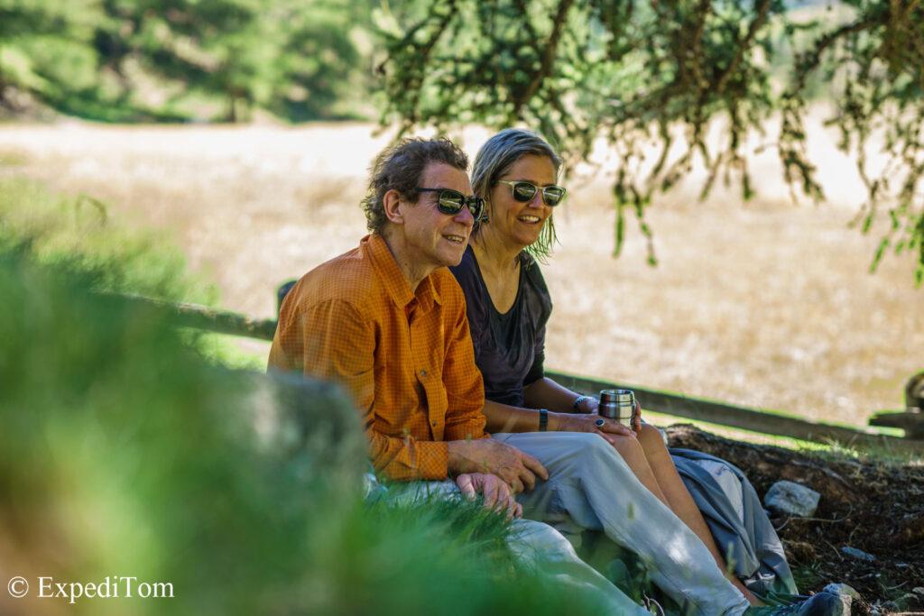 Heidi and her husband enjoying the Engadin while dry fly fishing mountain creeks