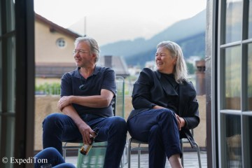 Happy clients enjoying the Villa Marguerita