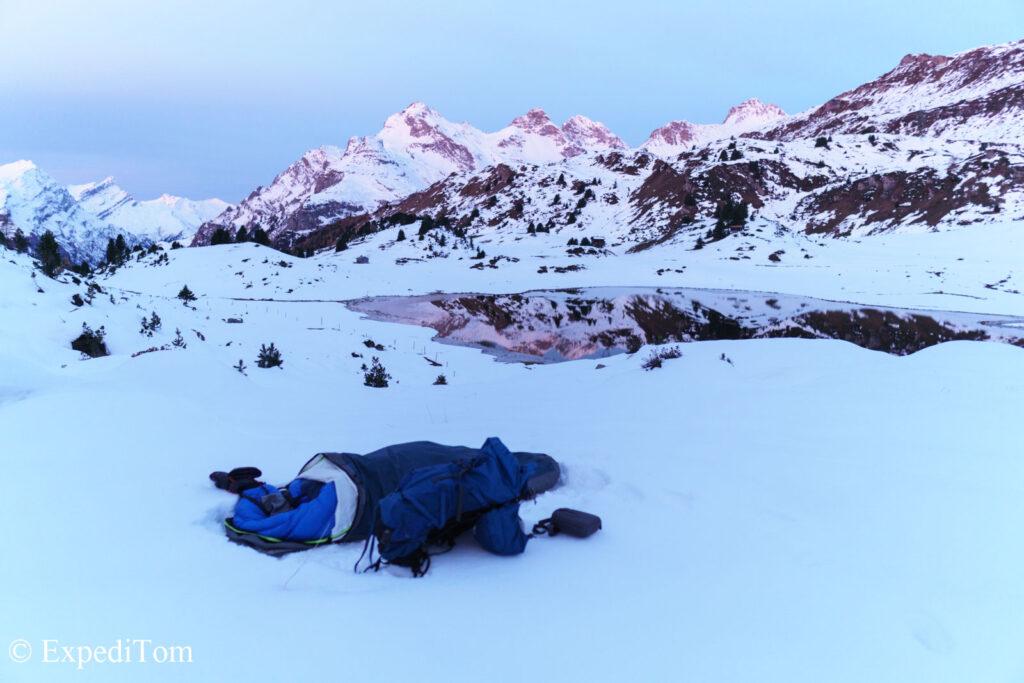 #wokeuplikethis bivouacking in the snow