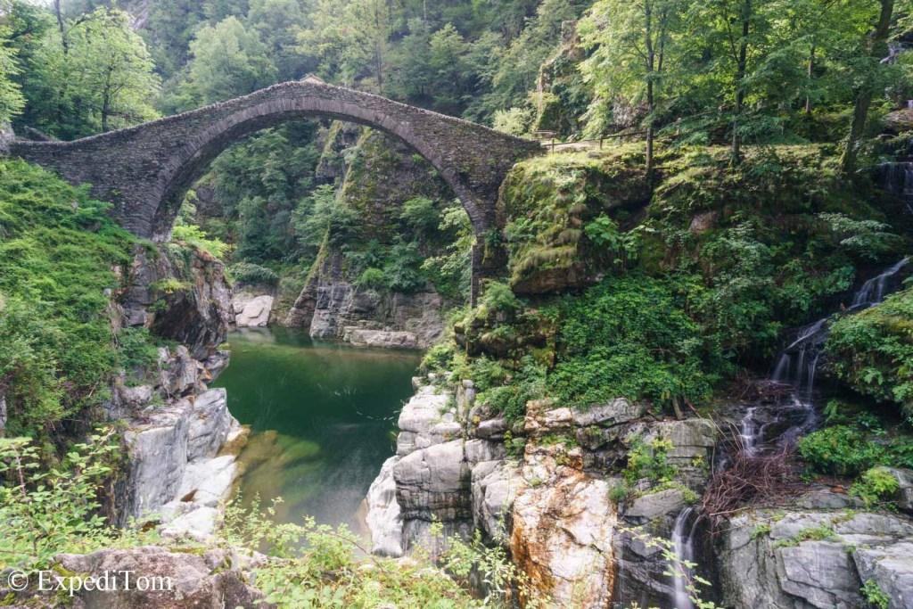 Old Roman stone bridge