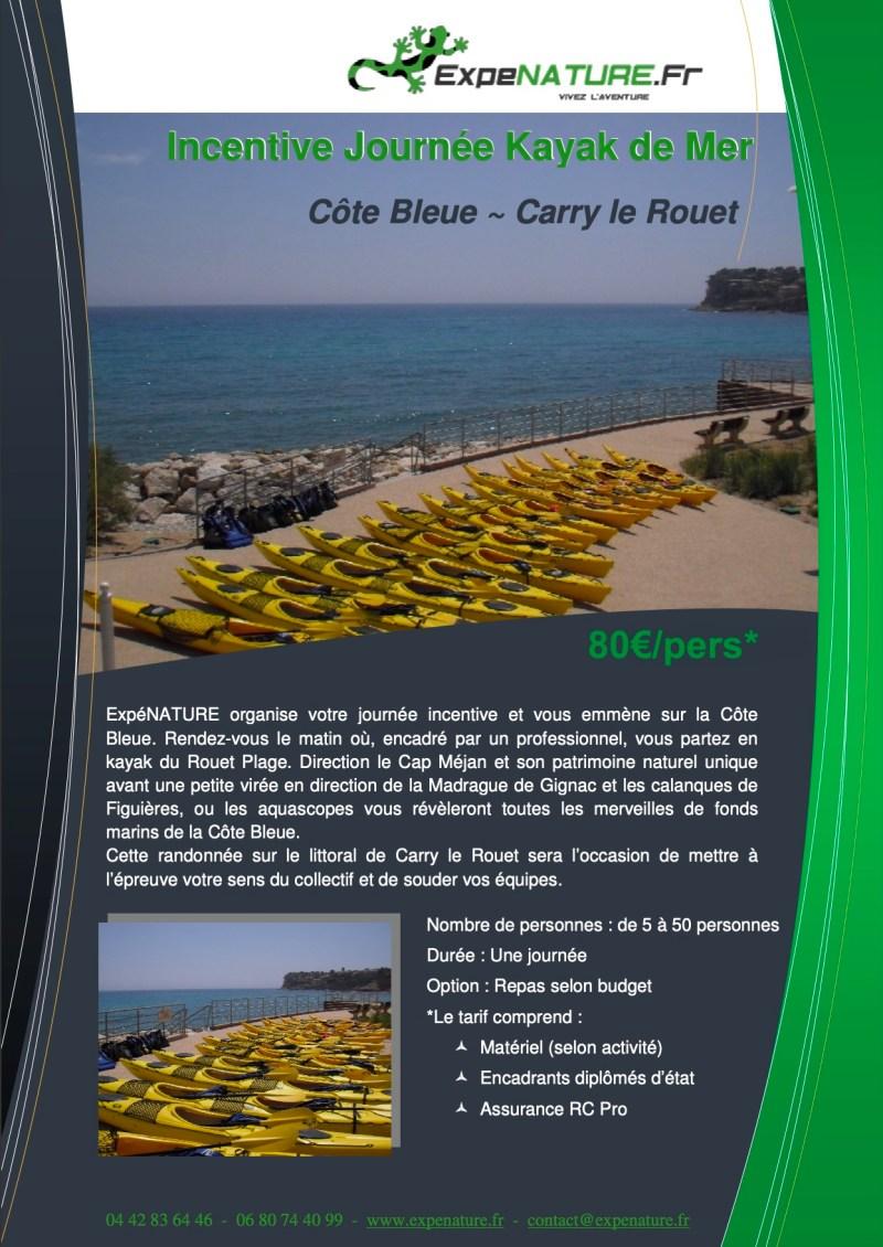 Journée Incentive en Kayak Carry le Rouet
