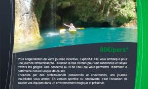Journée Incentive en Kayak Gorge d'Esparon