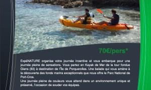 incentive kayak giens porquerolles