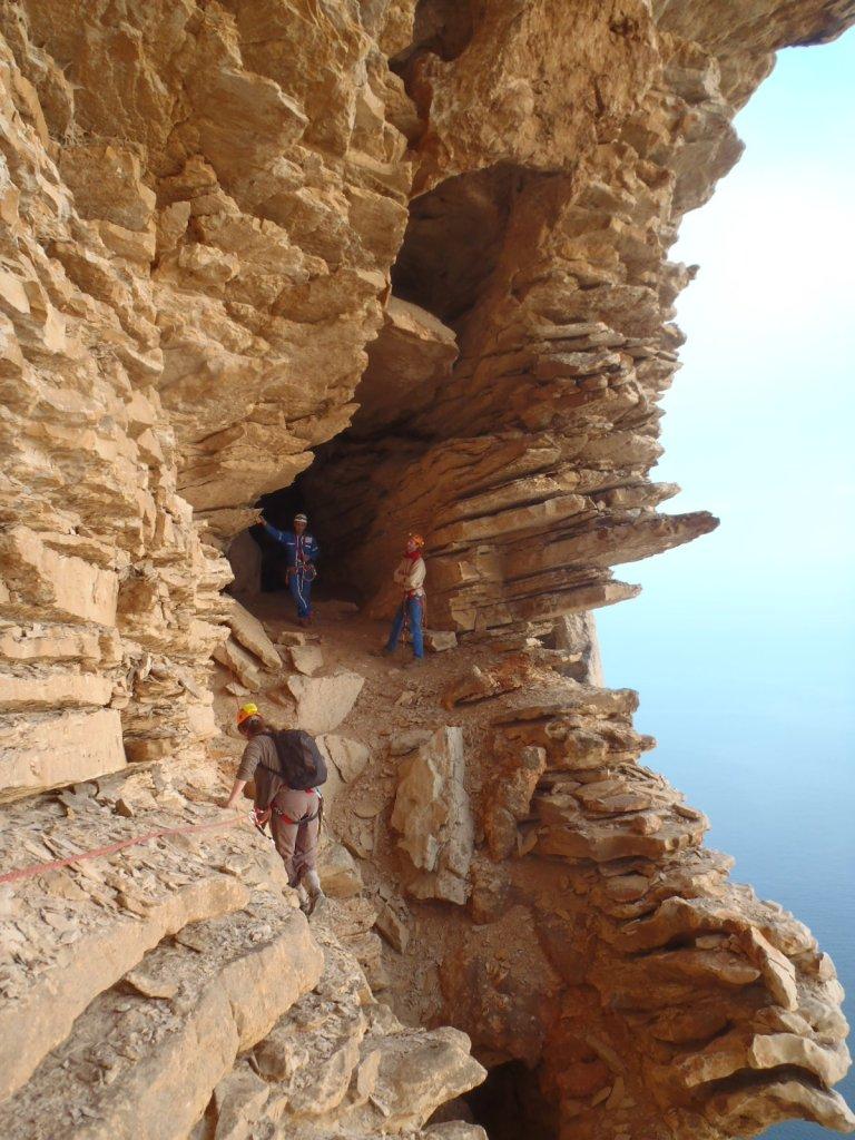 Parcours falaise spéléo le grand draioun
