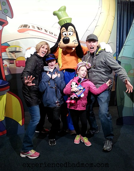 Goofy made us smile at Disney