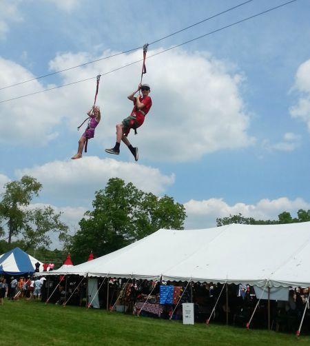 School-age kids will love ziplining!