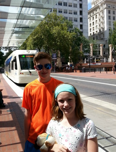 Seen and unseen on our family vacation: Portland light rail