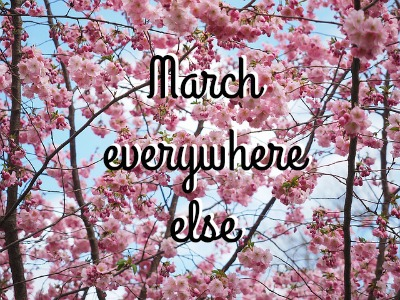 Things I want to complain about: it's a beautiful March everywhere but Michigan