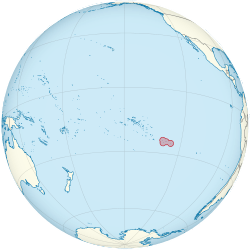 Pitcairn Island on the globe
