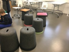 One of the many different seating options for students