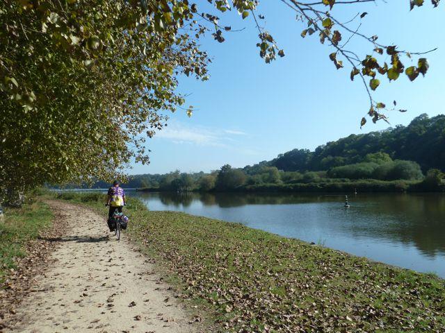 View along the bike path north of Dinan