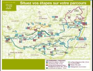 Bike routes in the Luberon