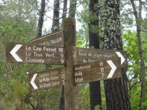 Paths to Cap Ferret clearly marked