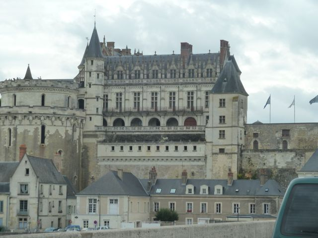 The spectacular Amboise Castle along the Loire