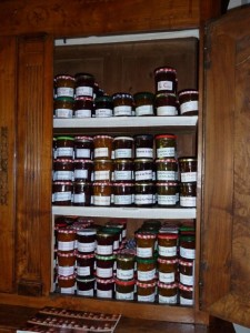 The jam cupboard at Hotel Diderot