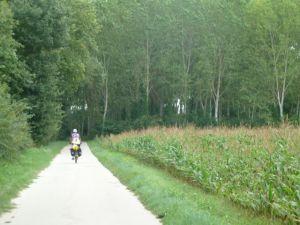 Bike path near Chaumont