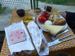Our picnic dinner