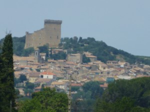 First view of Chateauneuf du Pape